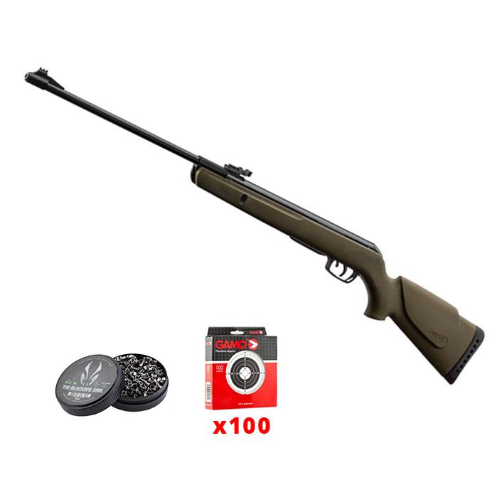 Pack carabine GAMO Delta Kaki calibre 4.5mm