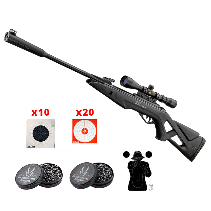 Pack carabine à plomb 4,5mm Gamo Whisper X Tactical IGT 19,9 joules