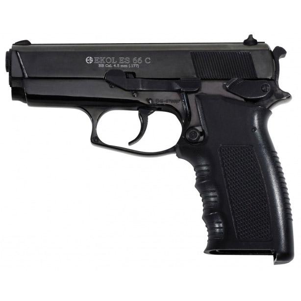 Pistolet à plomb EKOL ES66C BBs noir cal 4.5mm 2.4j - Ekol