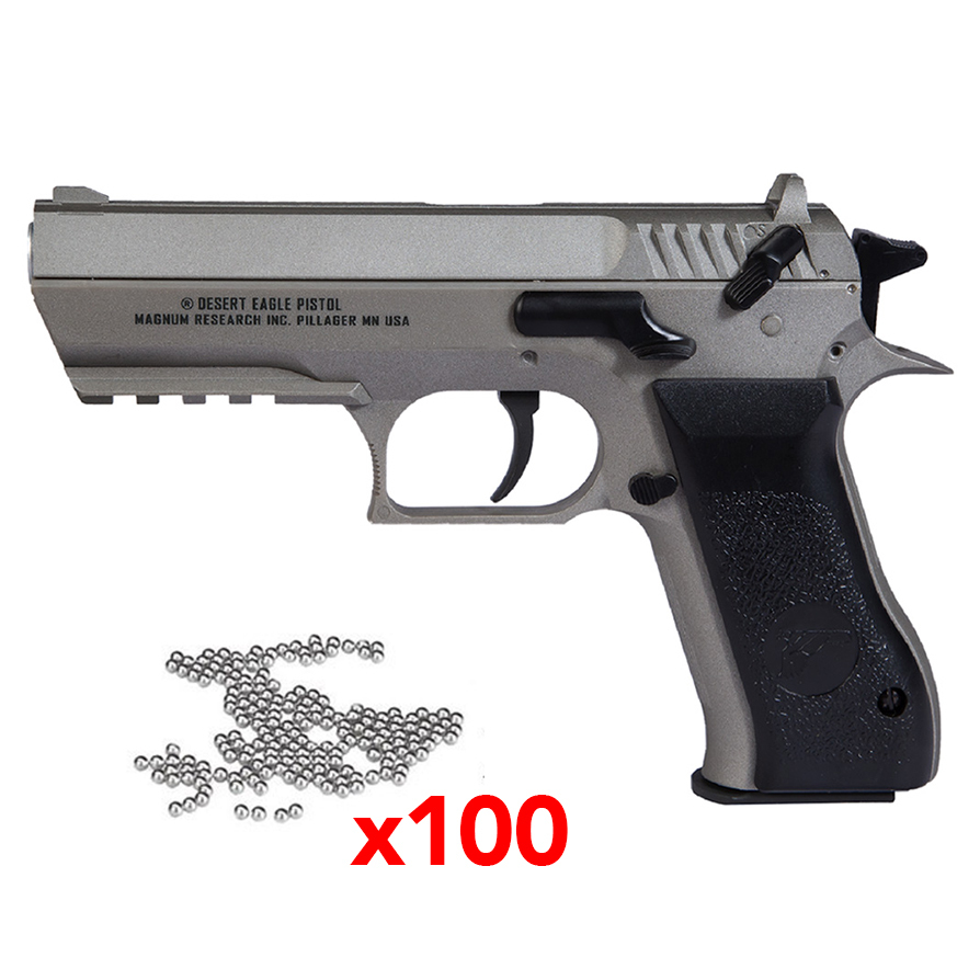 Pistolet Baby Desert Eagle Magnum Research Stainless 2,8j cal. 4.5 mm
