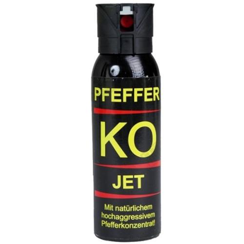 Défense lacrymogène 100 ml gel poivre k.o Jet très puissante