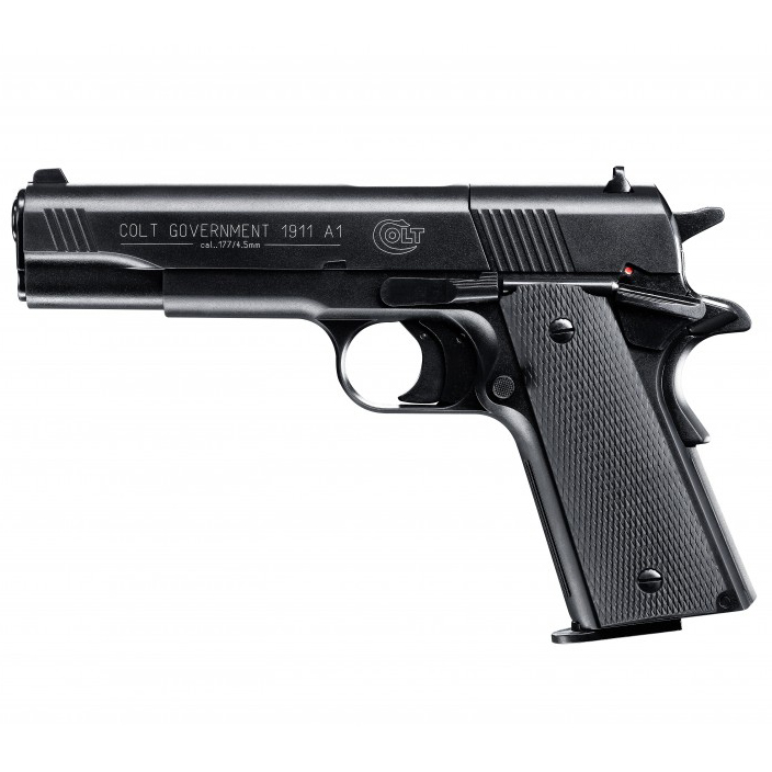 Pistolet à plomb Colt Government 1911 A1 Noir 3.6 joules cal. 4.5 mm - Umarex
