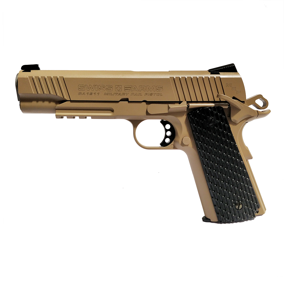 Pistolet à plomb SA 1911 Tan Military 4.5mm - Swiss Arms