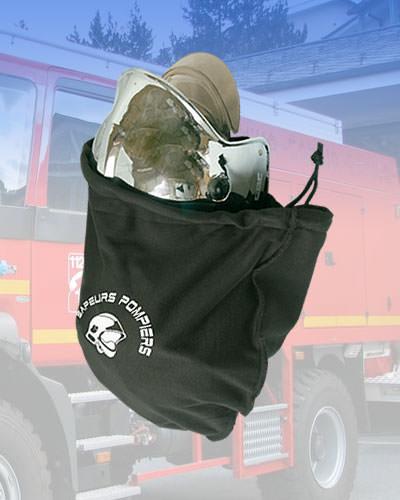 Housse lustrante casque pompiers