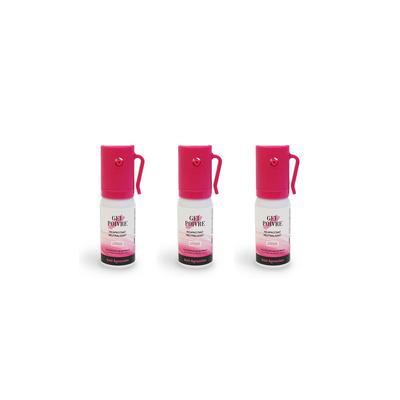 Lot de 3 x Bombes lacrymogènes roses 17 ml Gel poivre