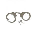 Menottes police en nickel plaqué 2 clés incluses