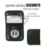 Porte carte + médaille sécurité ou maitre-chien
