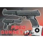 Pack pistolet à plomb air comprimé 4.5mm P900 + porte cible + cibles + plombs