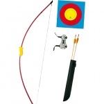 Pack débutant arc + cible + flèches + protège bras.