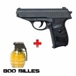 Pack AIRSOFT Réplique Métal DL30 0,5 joules + 800 billes 0,6 mm