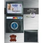 Porte carte Gendarmerie CUIR 2 volets