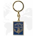 Porte clé métal Troupes de Marine