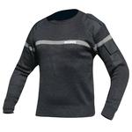 Pull noir bande grise brodé sécurité