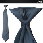 cravate-a-clip-grise