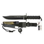 Couteau de survie noir Combat King 36 cm