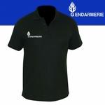 Polo Noir imprimé Gendarmerie