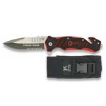 Couteau tactique 9 cm avec brise-vitre et coupe sangle