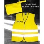 Gilet fluo haute visibilité sécurité