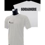 Tee-Shirt Blanc imprimé GENDARMERIE