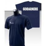 Tee-Shirt Marine imprimé GENDARMERIE
