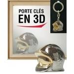 Porte clés 3D casque pompier F1