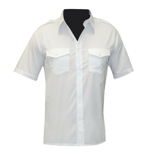 chemise-pilote-blanche-manches-courtes