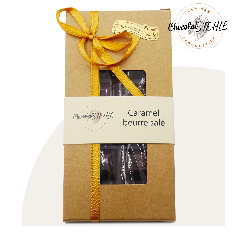 Tablette chocolat caramel beurre salé noir