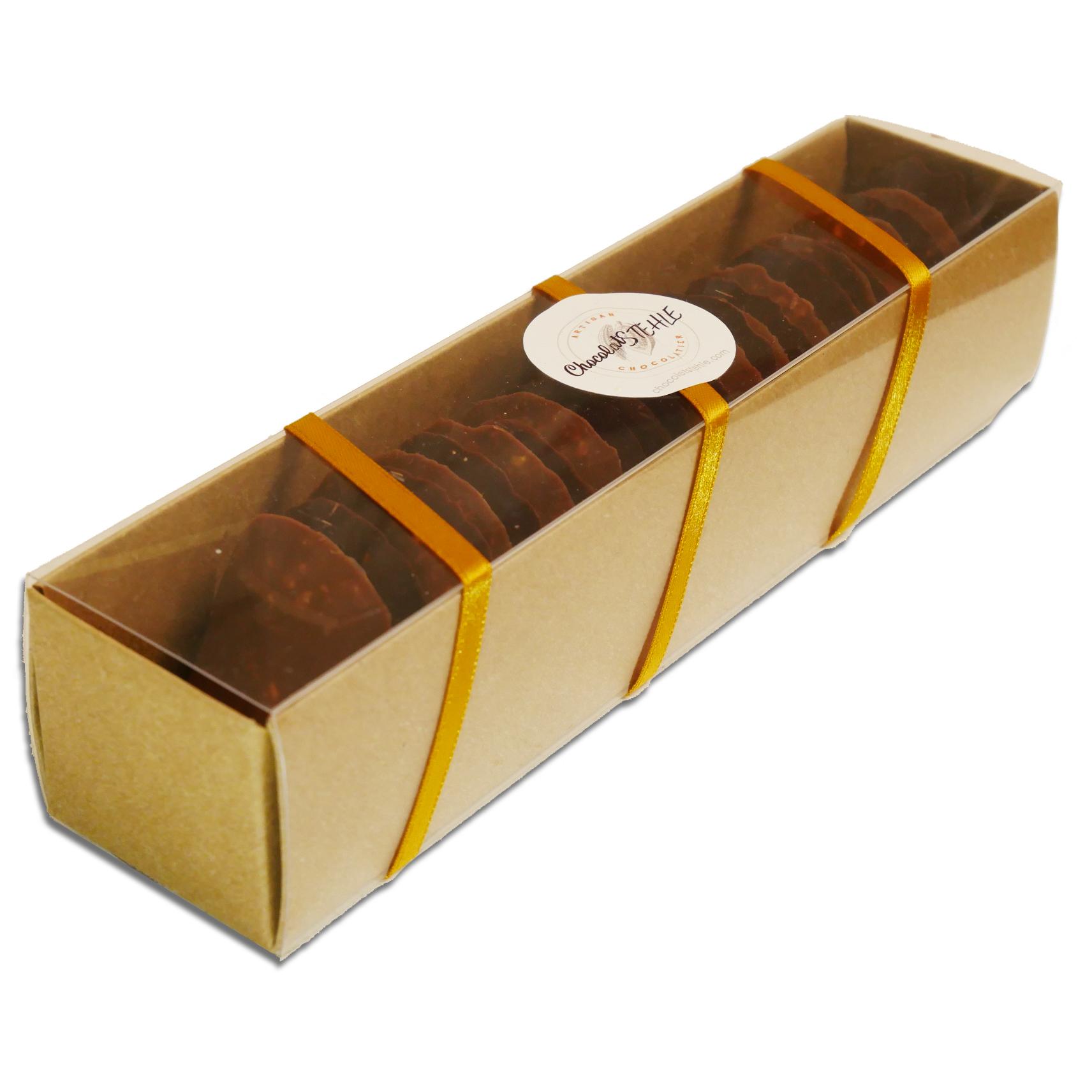 Tuiles craquantes au chocolat duo