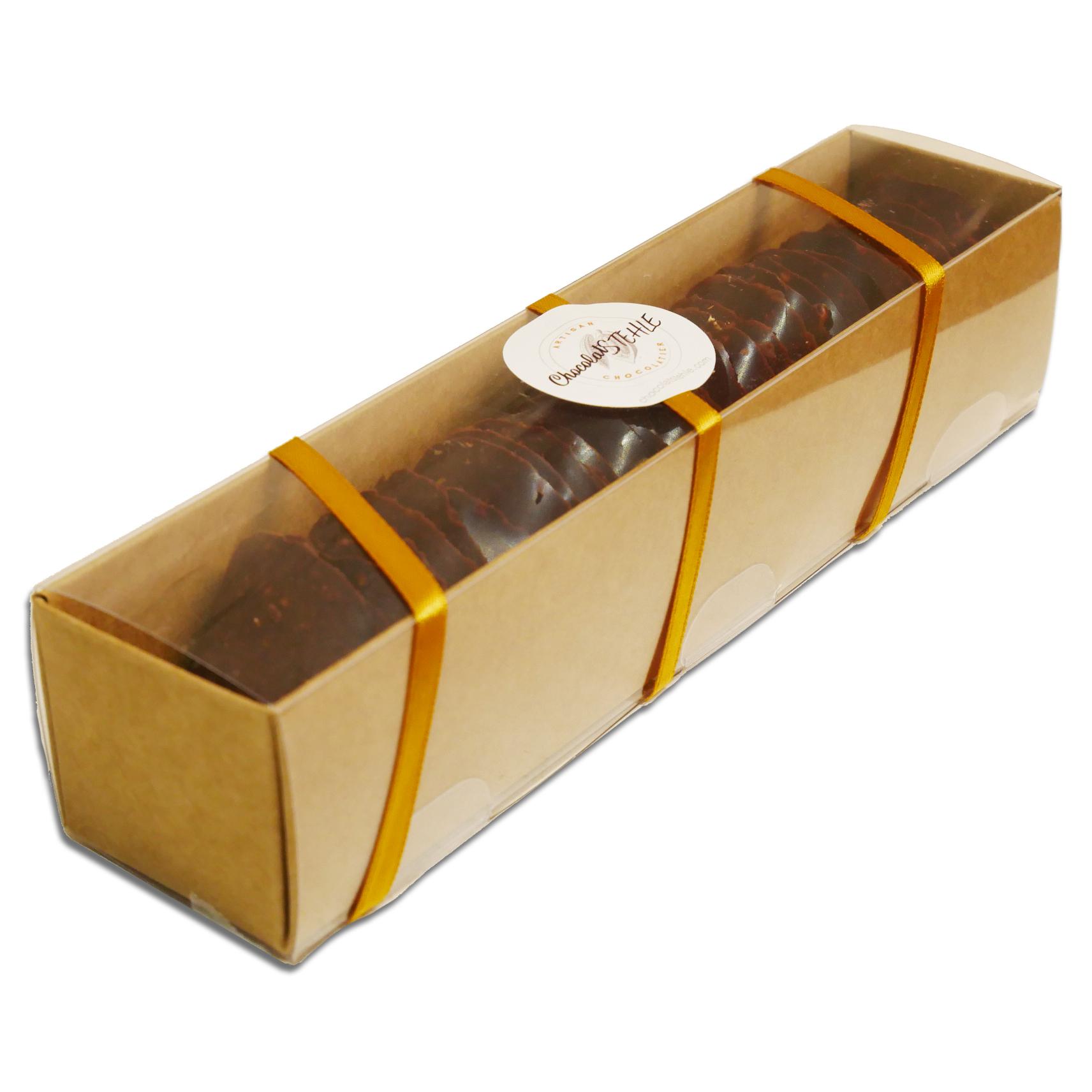 Tuiles craquantes au chocolat noir