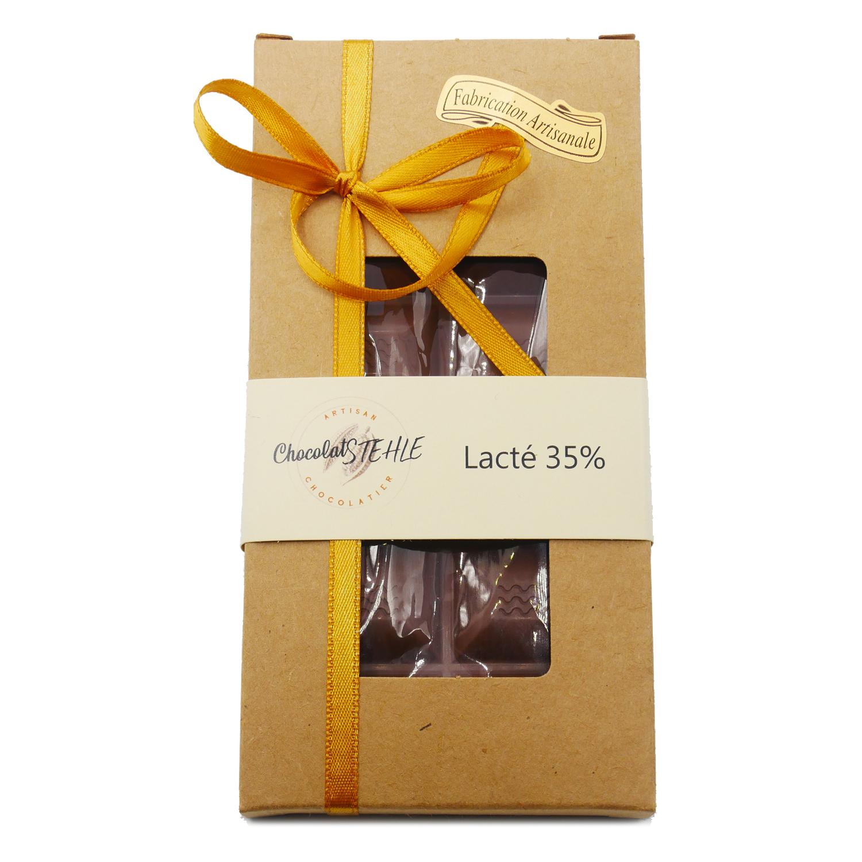 tablette chocolat lait 35%