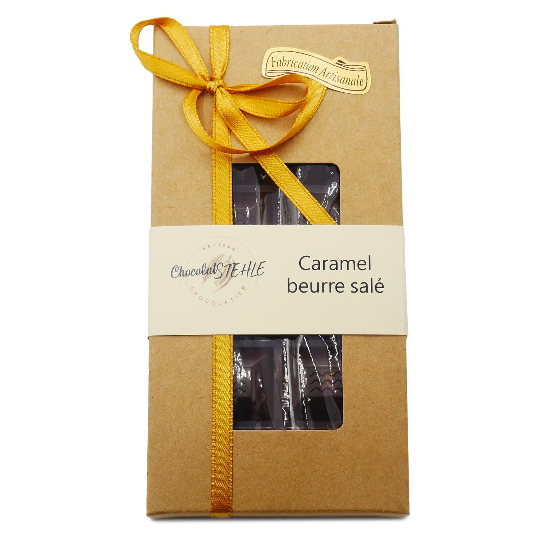 tablette chocolat noir caramel beurre salé