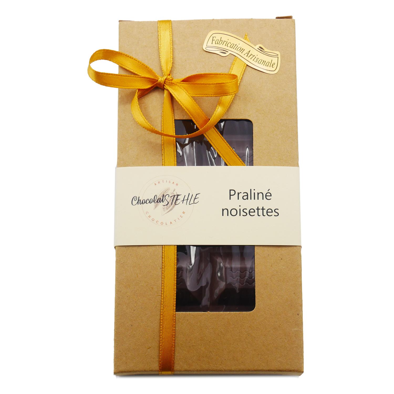tablette chocolat noir praliné noisette