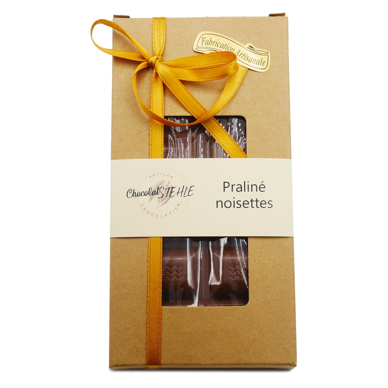 tablette chocolat praliné noisette lait