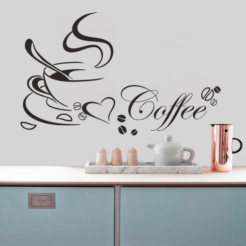 Stickers mural - Tasse à café avec cœur vinyle