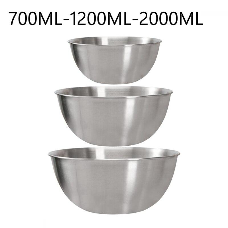 Lot de 3 bols empilables saladiers mélangeurs en acier inoxydable