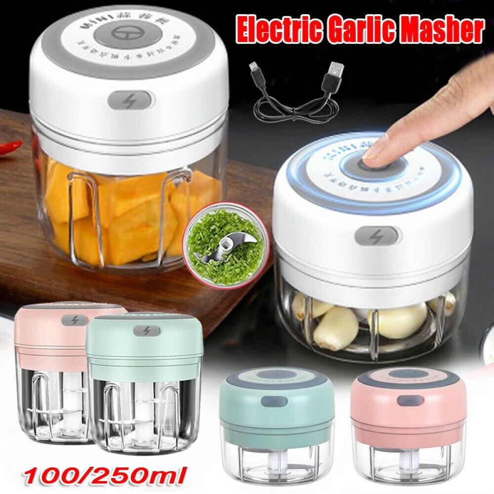 Presse-ail-lectrique-100-250ml-broyeur-de-cuisine-sans-fil-USB-pour-aliments-Chili-accessoires