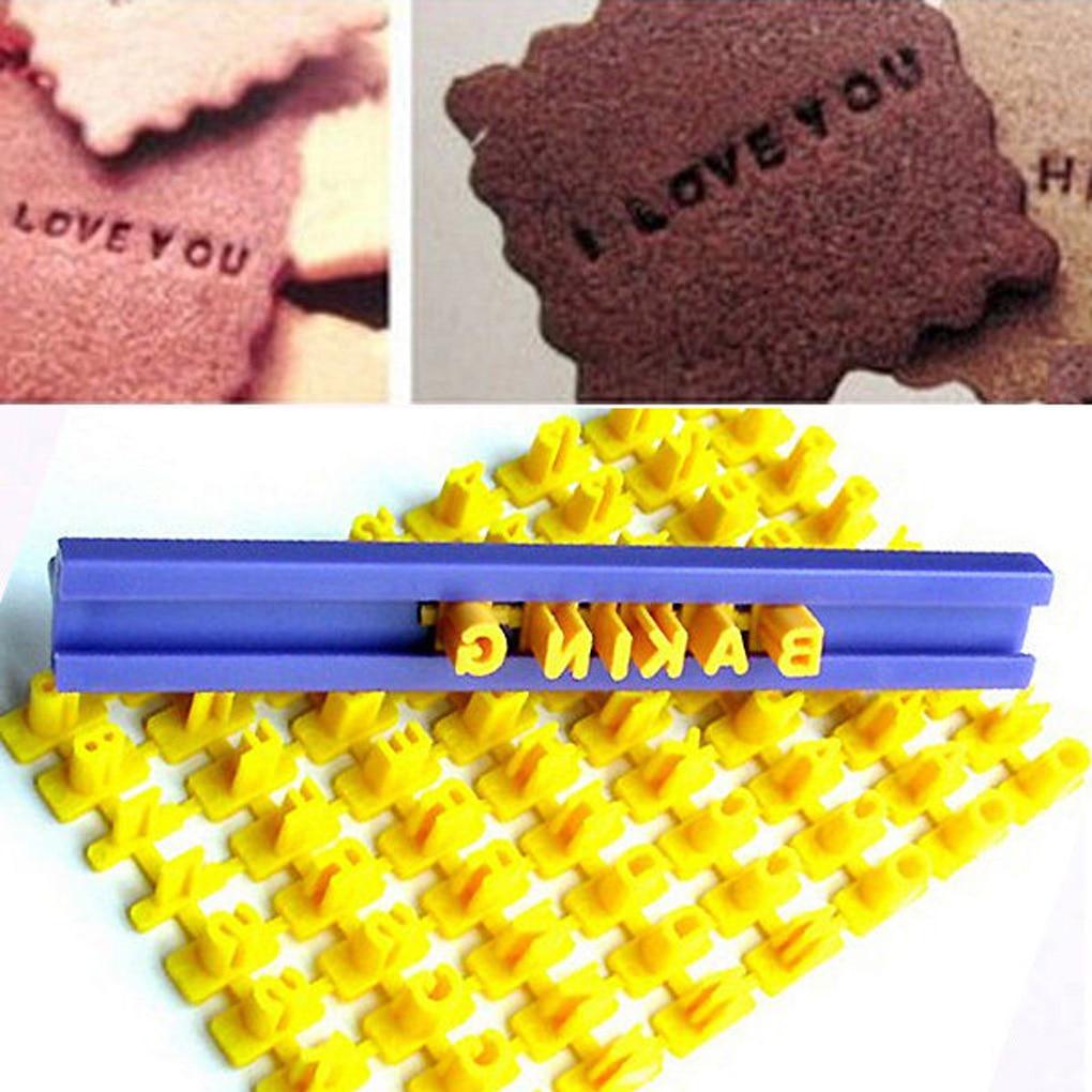 Moule en silicone avec lettres imprimées pour cuisson de mini biscuits, gâteaux