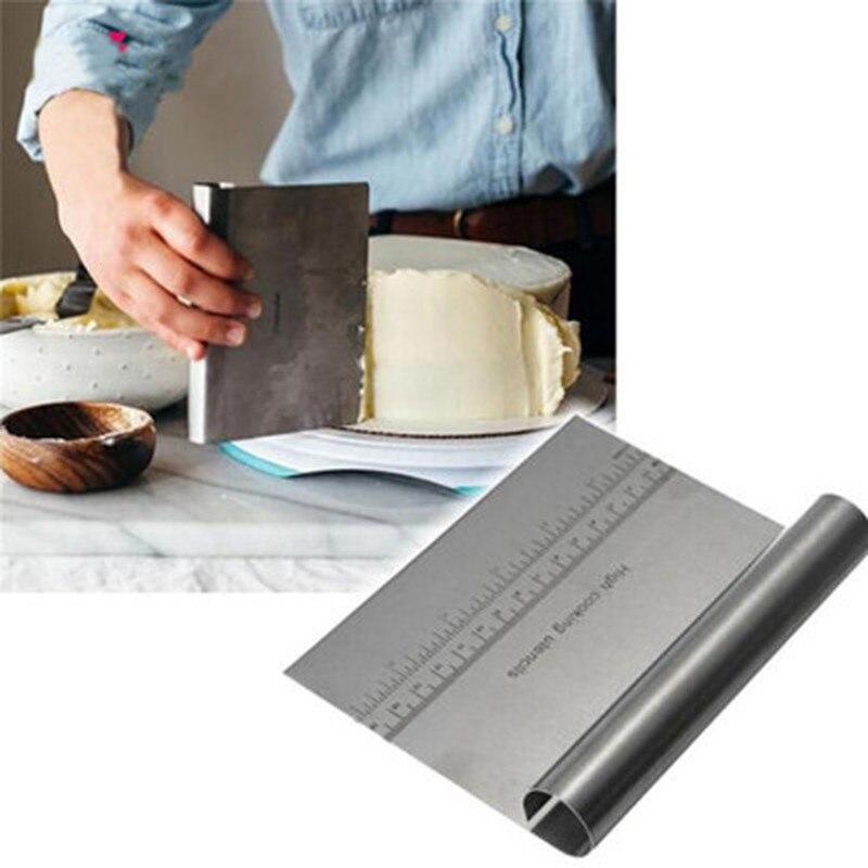 Coupe-pâte/grattoir à pâtisserie en acier inoxydable
