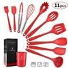 10-11PCSSilicone-ustensiles-de-cuisine-ustensiles-de-cuisine-antiadh-sifs-outil-de-cuisine-spatule-louche-oeufs