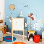 Dessin-anim-beaux-animaux-Stickers-muraux-pour-enfants-chambres-lapins-l-phant-recevoir-Email-d-coratif