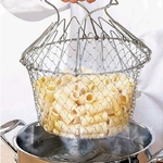 Passoire-de-rin-age-vapeur-pliable-en-acier-inoxydable-panier-mailles-magique-gouttoir-outil-de-friteuse
