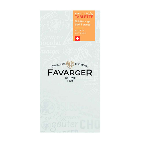 Favarger - Tablette Noir Orange 100g