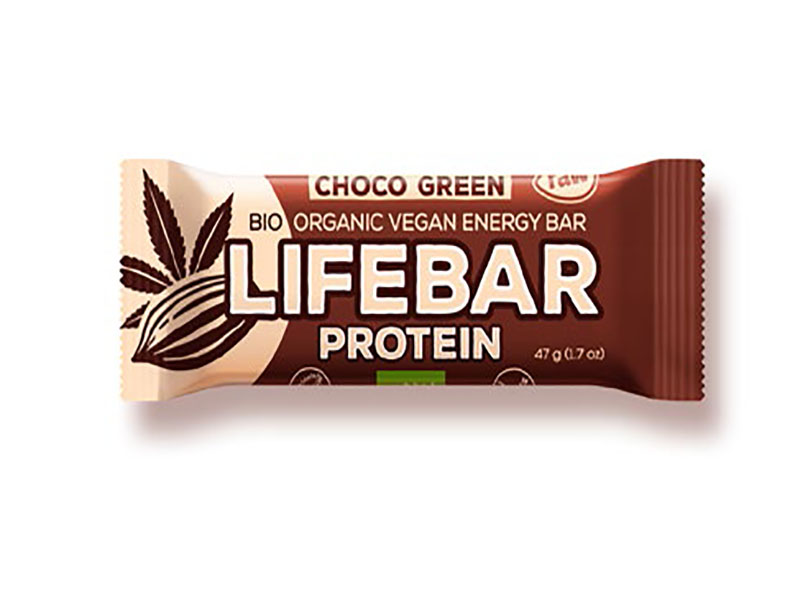 Barre Lifebar -Chocolat Protéines vertes bio & cru- 47g