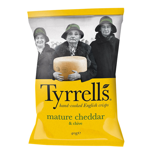 Tyrrell\'s Cheddar et Ciboulette - 40g