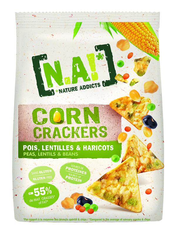 [N.A!] Corn Crackers -Pois Lentilles Haricots- 50g
