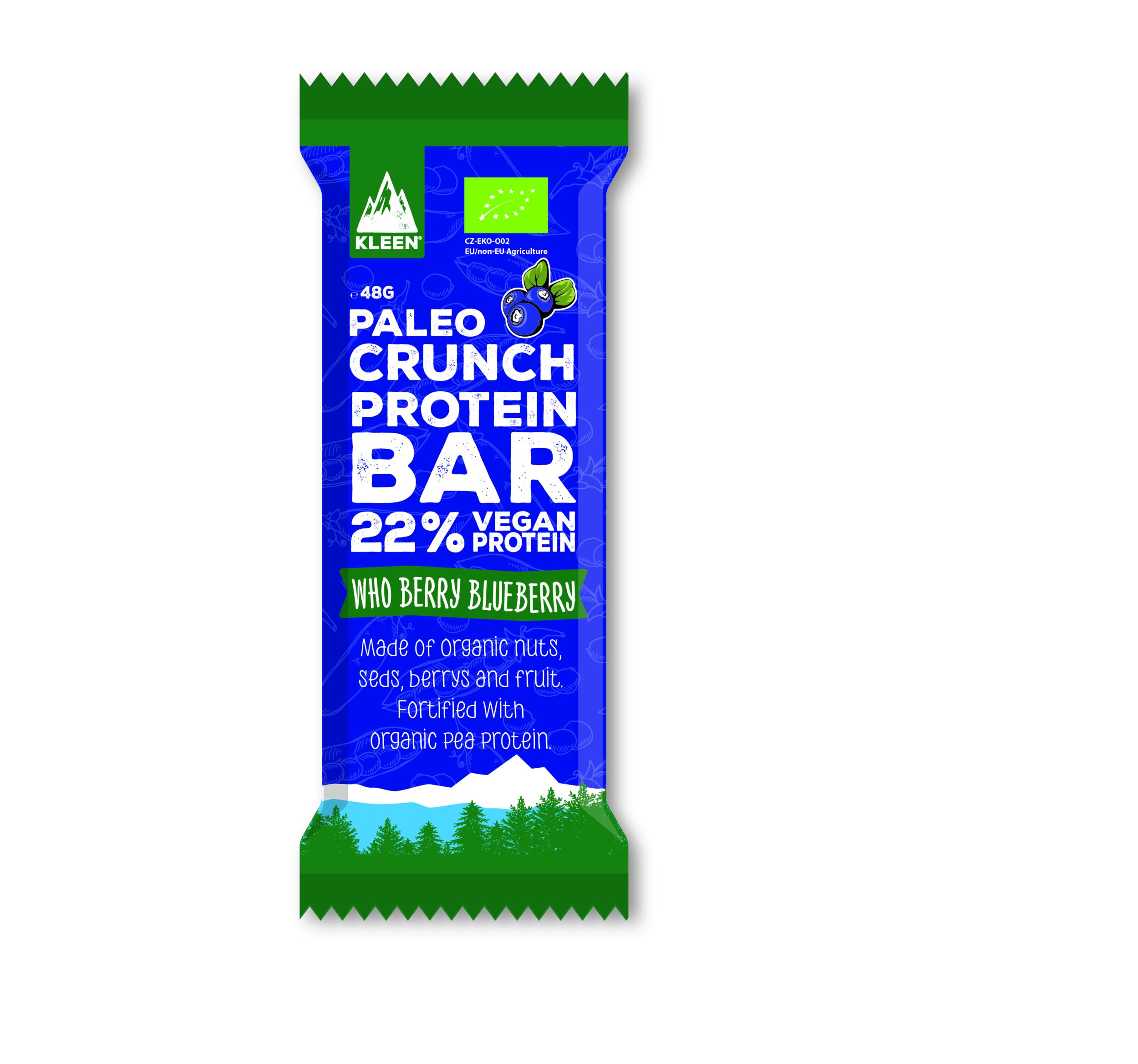 Barre Paléo Crunch PROTEIN -Myrtille- 47g