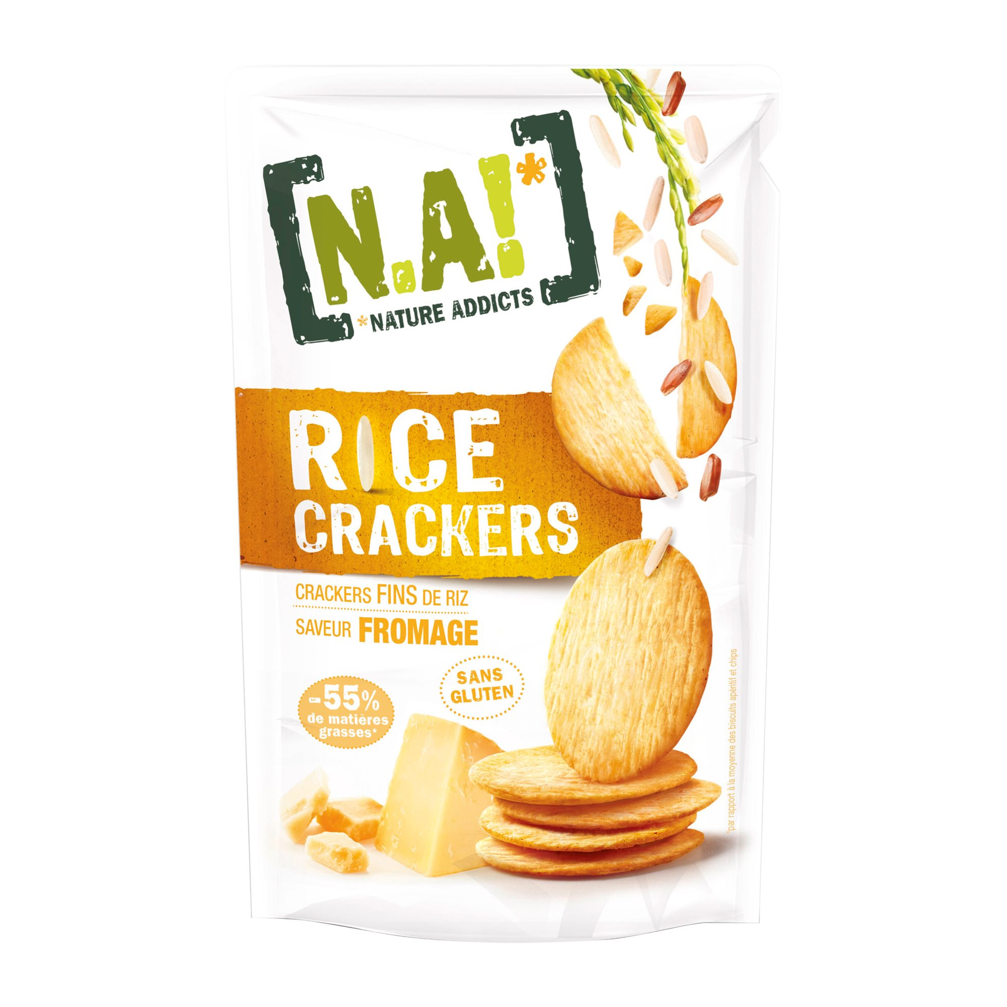 [N.A!] Rice Crackers - Cheddar -70g