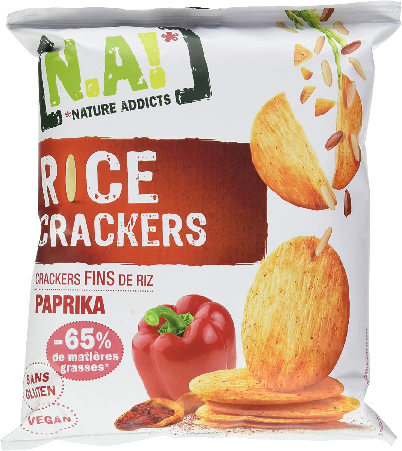 [N.A!] Rice Crackers - Piment Doux - 12 x 35g