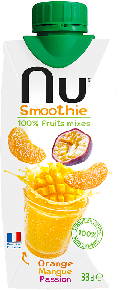 NU Smoothies - Tropical Boost - Orange Mangue Passion - 33cl