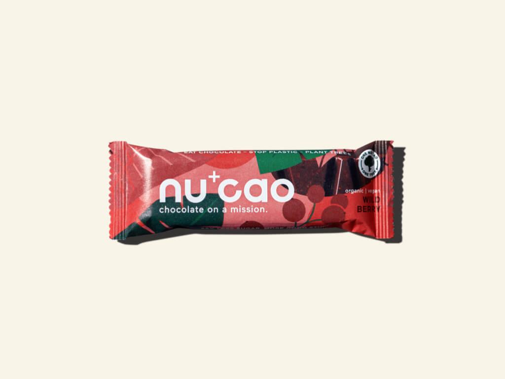 Nu+Cao - Barre Cacao + Baies Sauvages - Bio - 40g